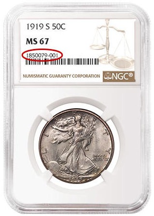 NGC Coin Certification example